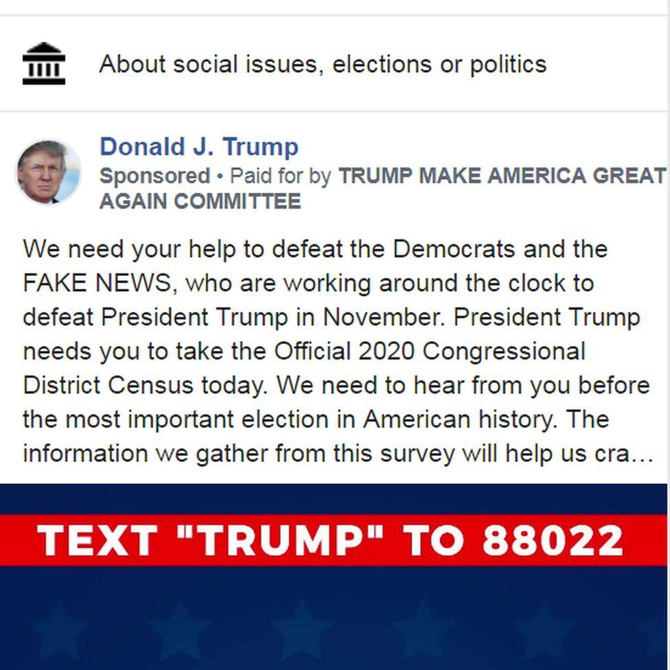 The Trump advert