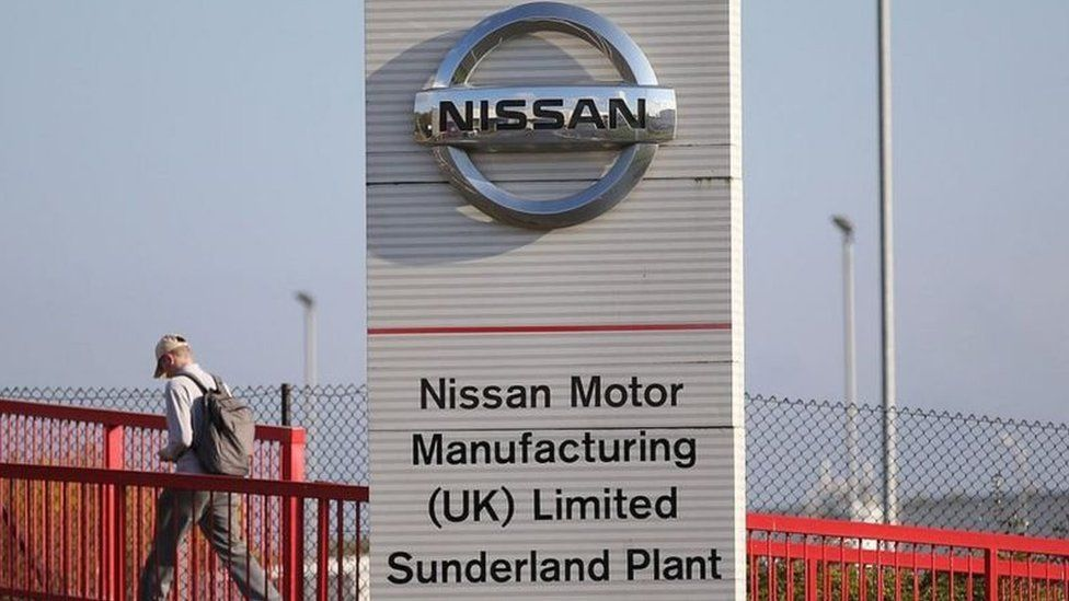 Nissan's car plant in Sunderland