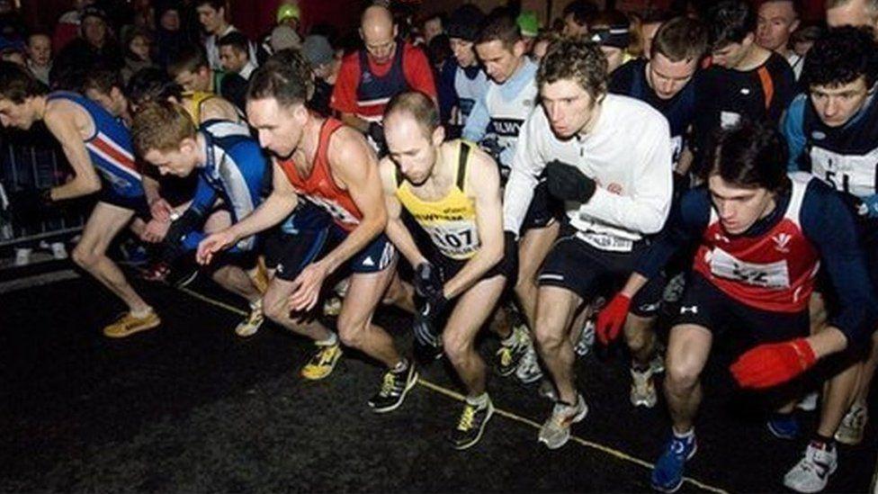 Runners at Nos Galan