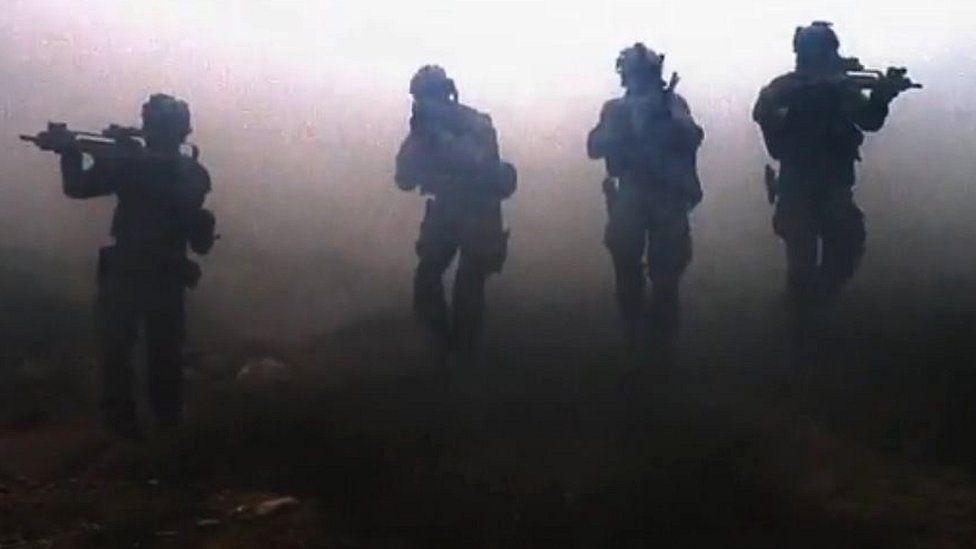 Screengrab from German army KSK video