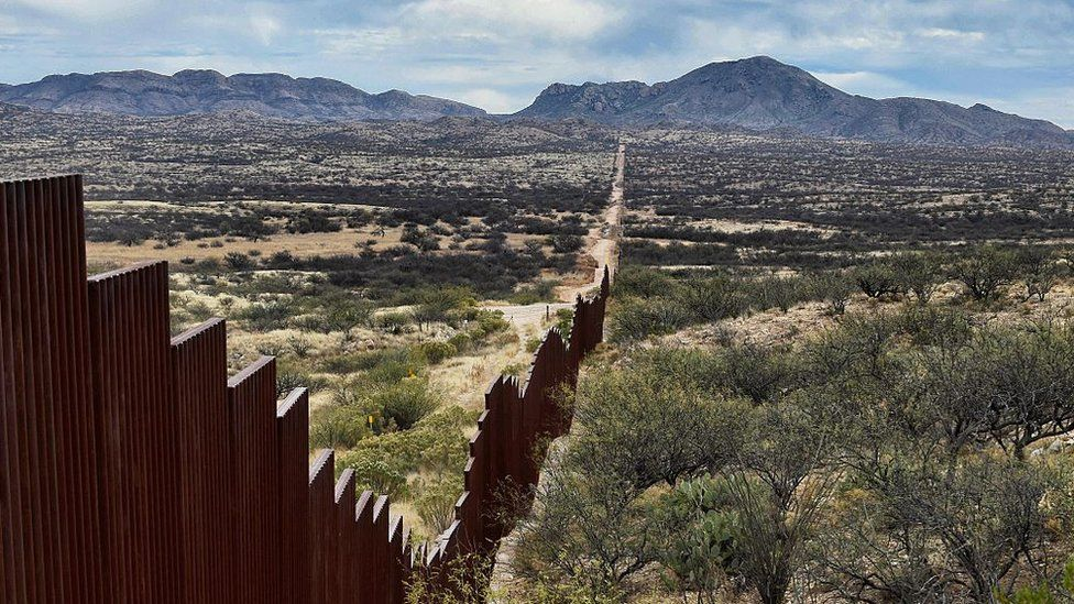 The fence which is already in place along much of the US-Mexico border