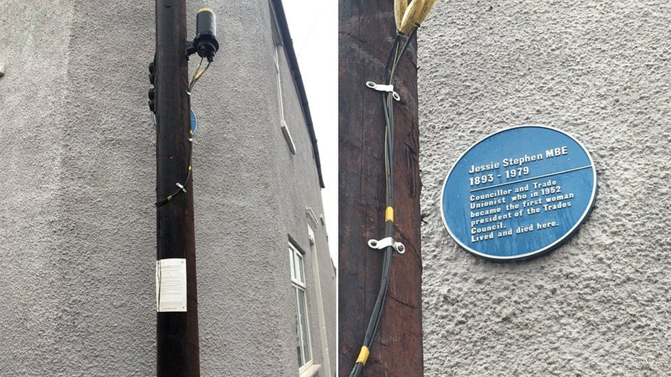 Blue plaque to Jessie Stephen in Bristol