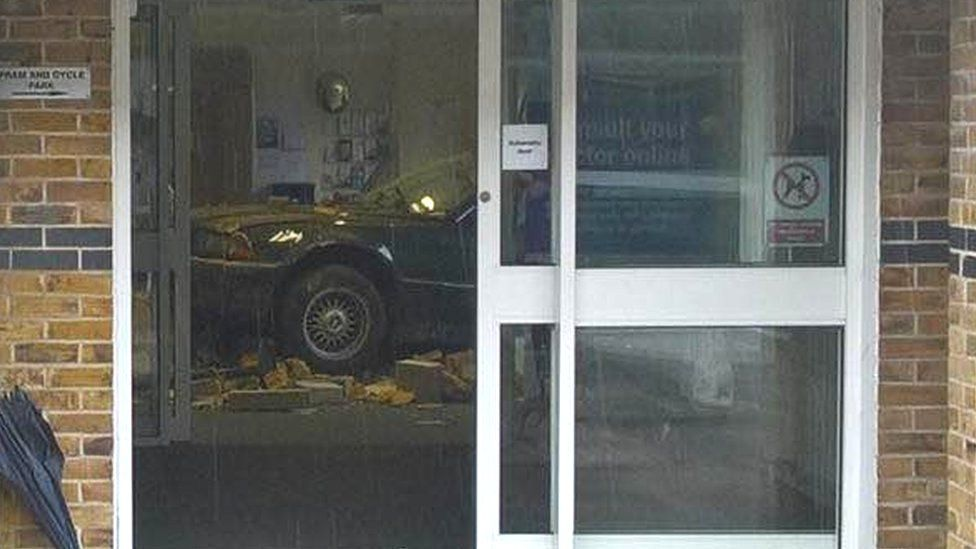 Car crashes into doctor's waiting room in Marlow