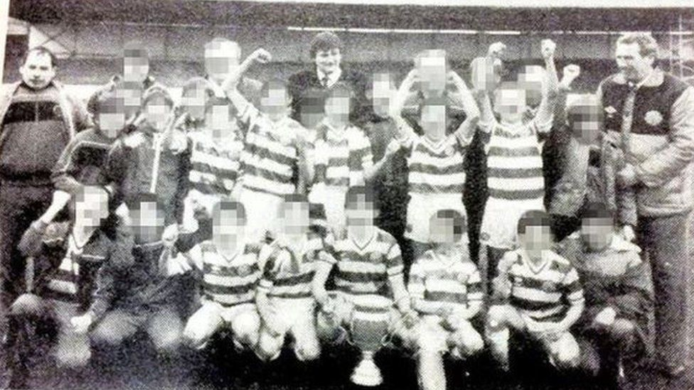 Gerald King (far left), Jim Torbett (centre) and Frank Cairney (right)