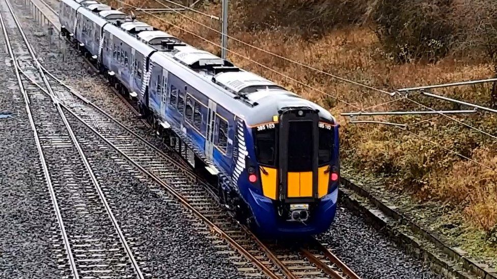 new electric train trial in country durham