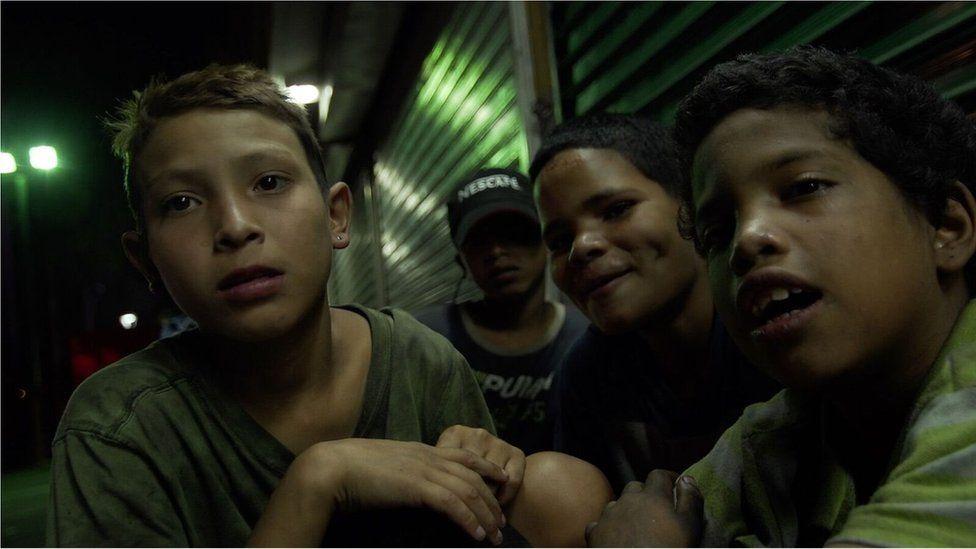 Boys in the Las Mercedes neighbourhood of Caracas