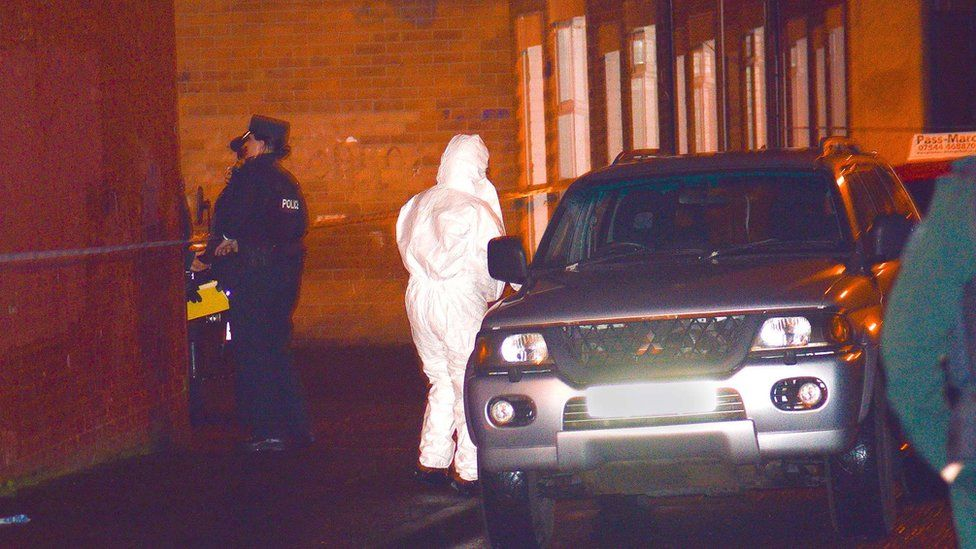 PSNI officers at the scene of the second shooting in west Belfast in less than 48 hours