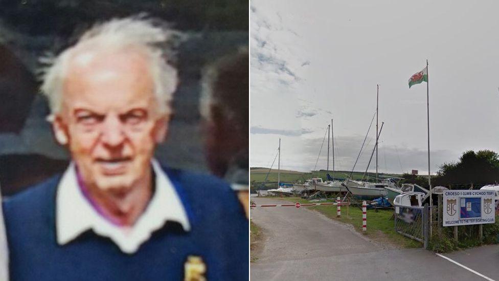 Arthur Roy Taylor and the boat club at Gwbert