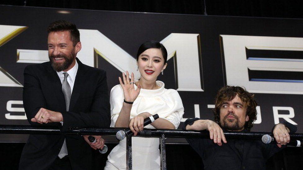 Fan Bingbing at an X-Men film press event