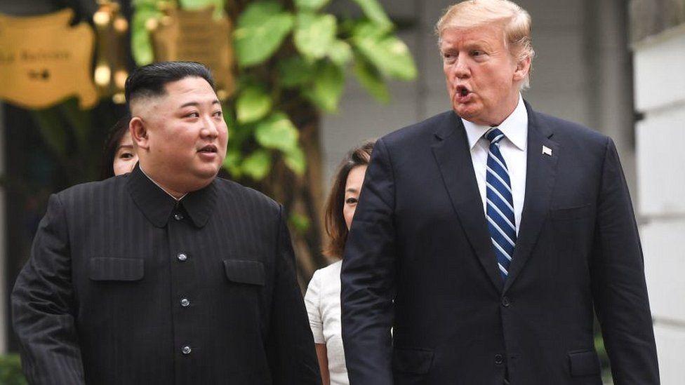 Trump and Kim meeting in Hanoi February 2019