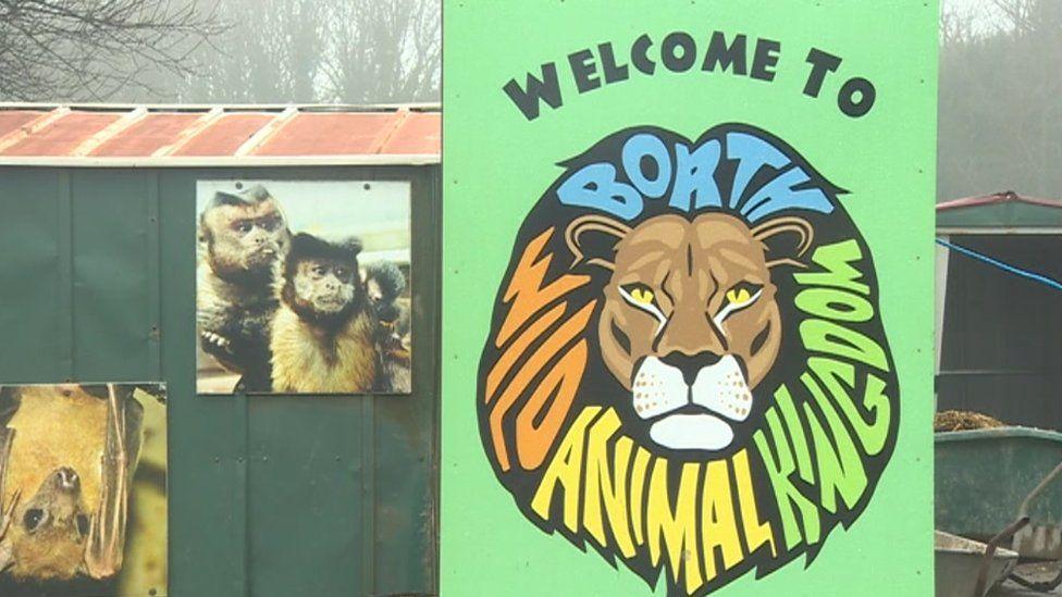 Borth zoo sign