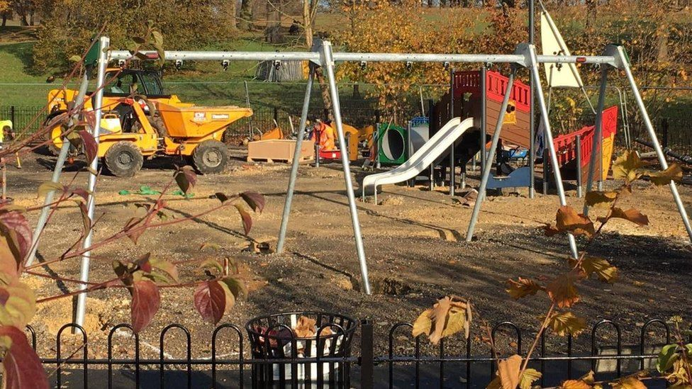 Work on the playground