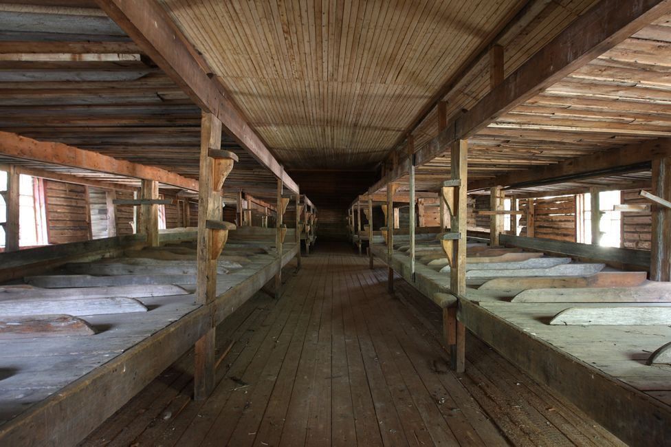 A dormitory where some of the prisoners would have slept 100 years ago