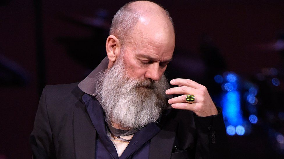 Michael Stipe performs onstage during The Music of David Bowie at Carnegie Hall on March 31, 2016 in New York City