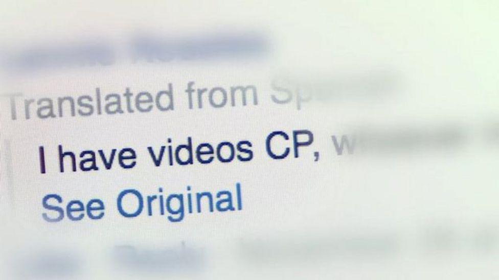"""Mensaje """"secreto"""" en Facebook"""