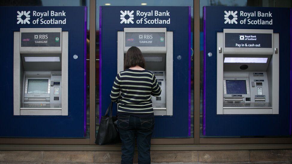 RBS cash machines