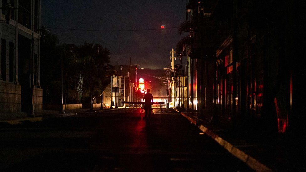 Puerto Rico in darkness