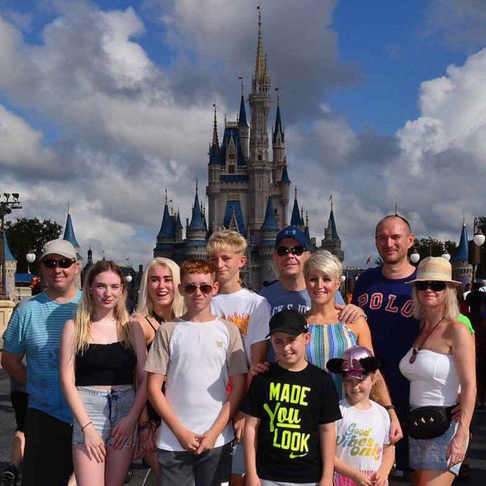 Sarah Wilson and her family and friends spent two weeks at Disney World in Orlando