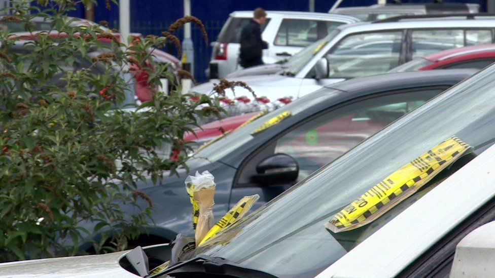 Cars with parking tickets