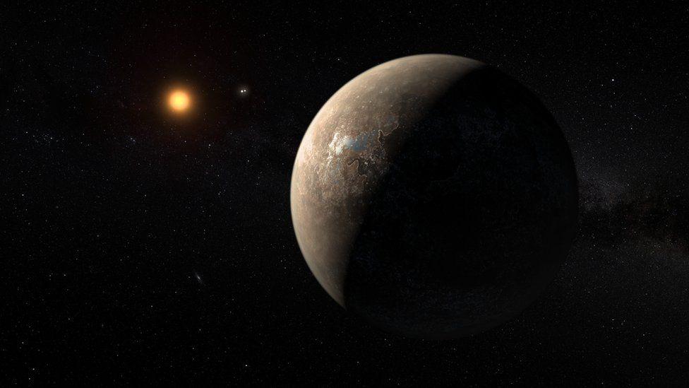 Proxima Centauri b, artist's impression