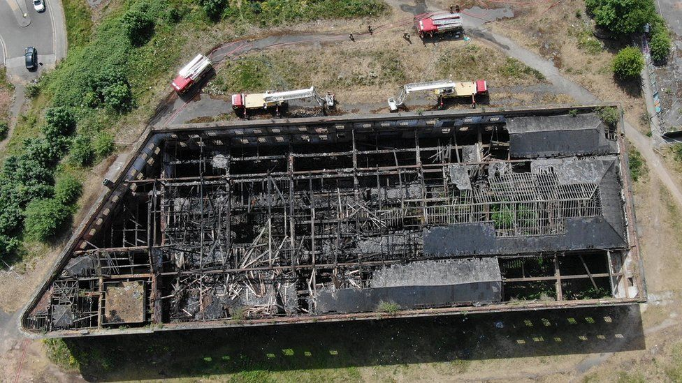 Drone image of building