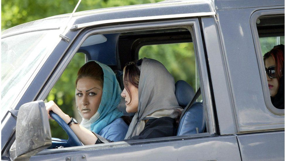 Iranian women in an exclusive part of Tehran