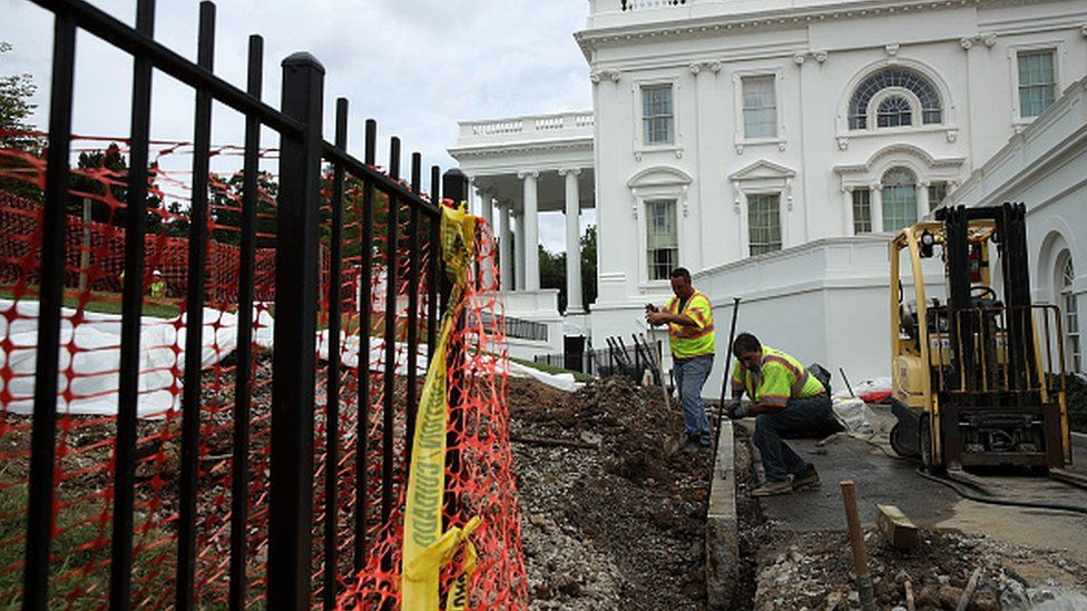 The White House is being renovated while Trump is away
