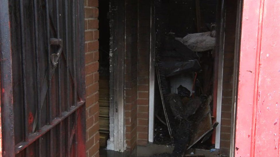 Damage at the charity's premises
