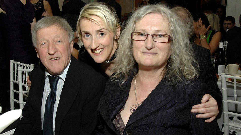 Aedin Maloney, Paddy Moloney and Rita Maloney attend the Gold Medal of Honor for Lifetime Achievement in Music at The National Arts Club on January 27, 2011 in New York City.