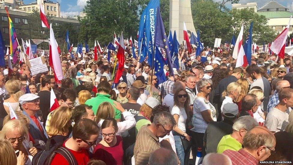 Rally in Warsaw