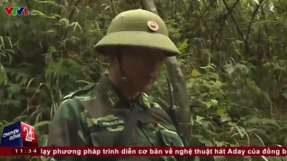 Lao Cai border guard on Fansipan mountain