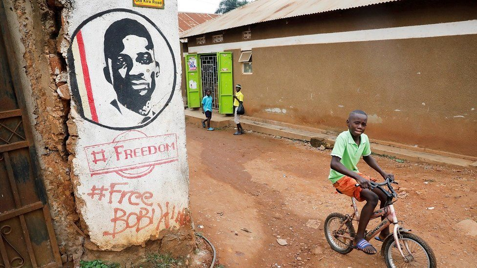 Mural of Bobi Wine