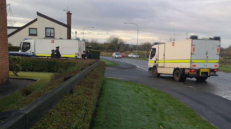 Police at the scene of the alert in Kilvoragh Park