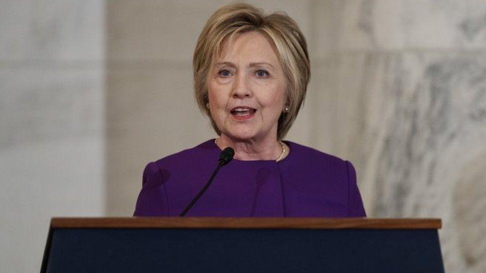 Hillary Clinton speaks on Capitol Hill, Washington. Photo: 8 December 2016