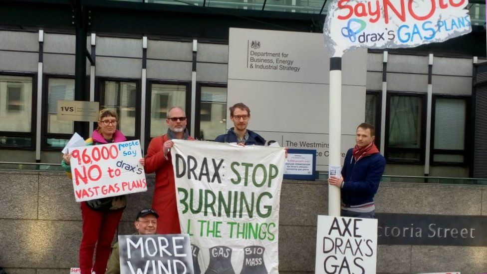 Protestors at the Department for Business, Energy and Industrial Strategy