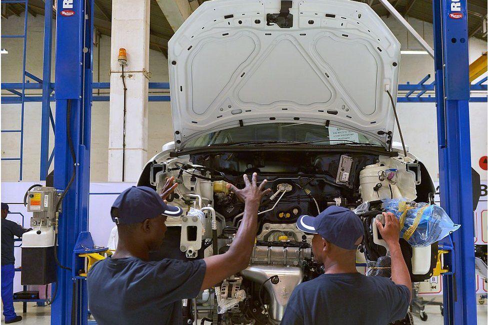 A car factory in Kenya
