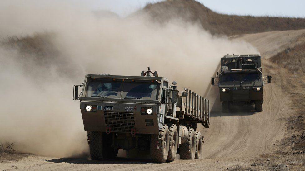 Israeli tanks in Golan Heights on 3 August 2020