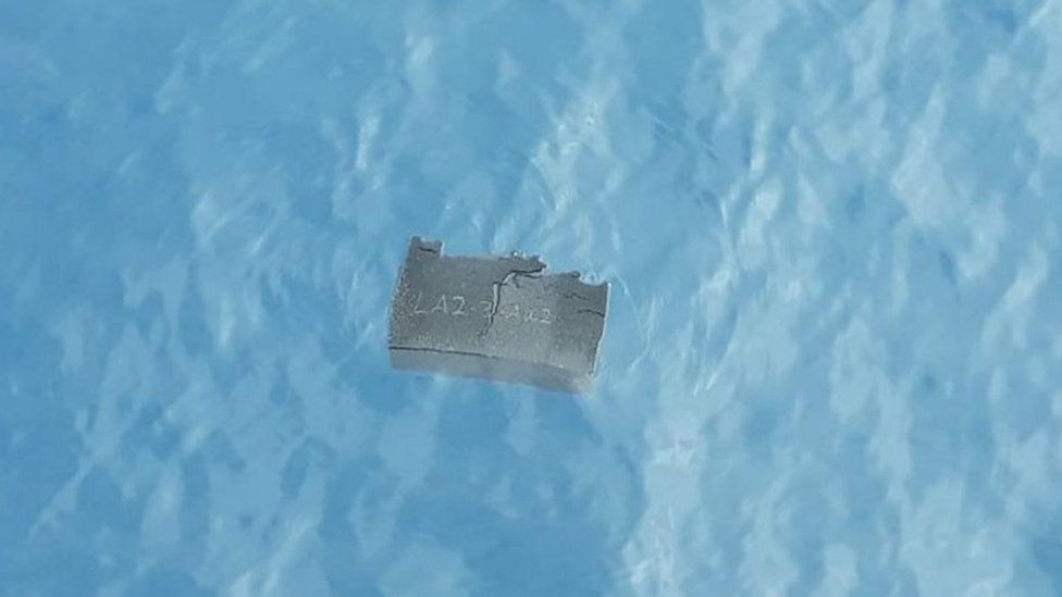 Floating debris near the area where the Chilean C-130 plane went missing