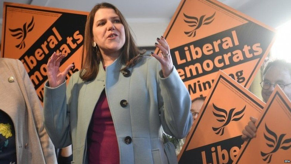 Jo Swinson during the 2019 general election