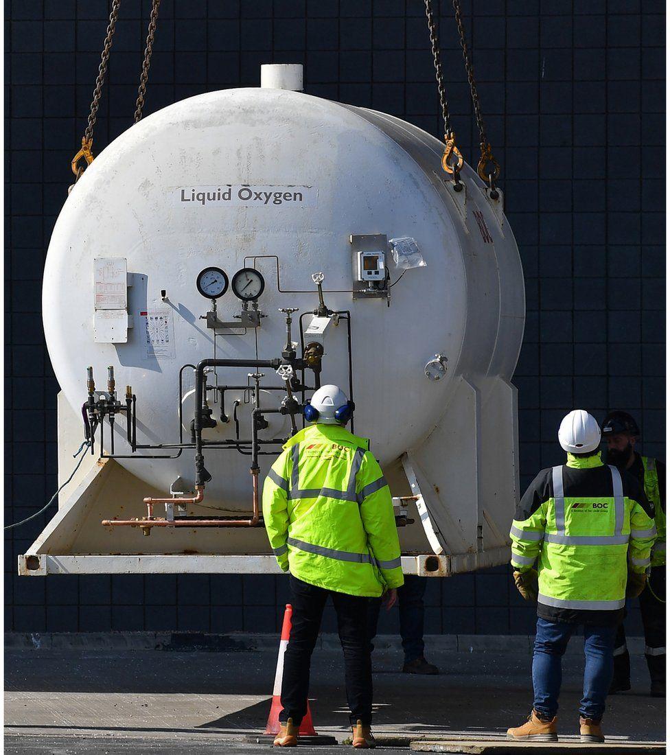 A tank of liquid oxygen