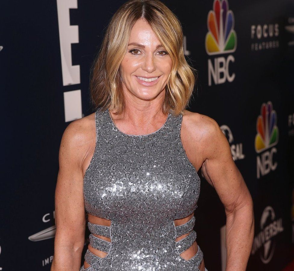 Former Olympic gymnast Nadia Comaneci attends the Universal, NBC, Focus Features, E! Entertainment Golden Globes after party sponsored by Chrysler on January 8, 2017 in Beverly Hills, California