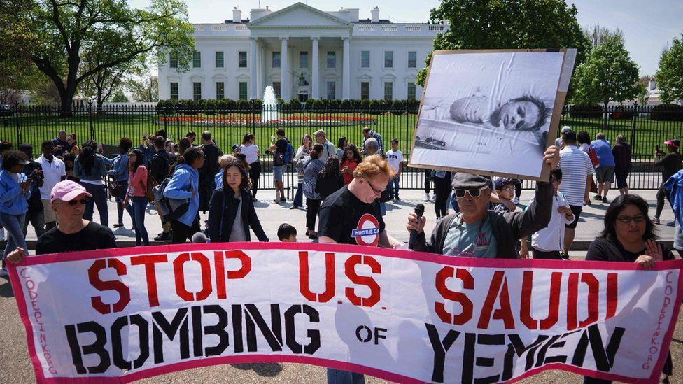 Protest outside the White House