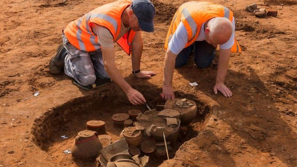 Artefacts found by archaeologists