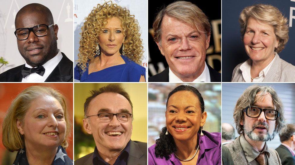 Steve McQueen, Kelly Hoppen, Eddie Izzard, Sandi Toksvig, Jarvis Cocker, Oona King, Danny Boyle and Hilary Mantel,