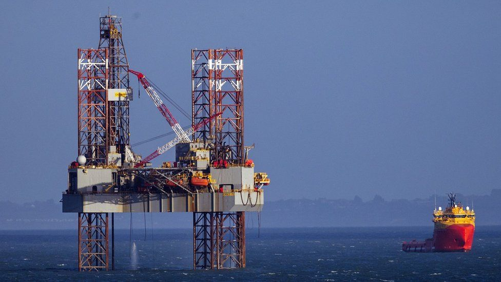 Oil rig, Poole Bay