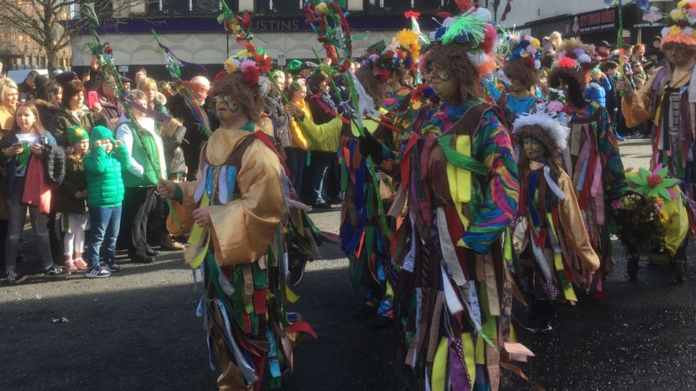 A colourful parade in Derry