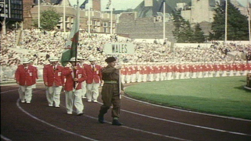 Opening Ceremony of the 1958 Empire Games in Cardiff