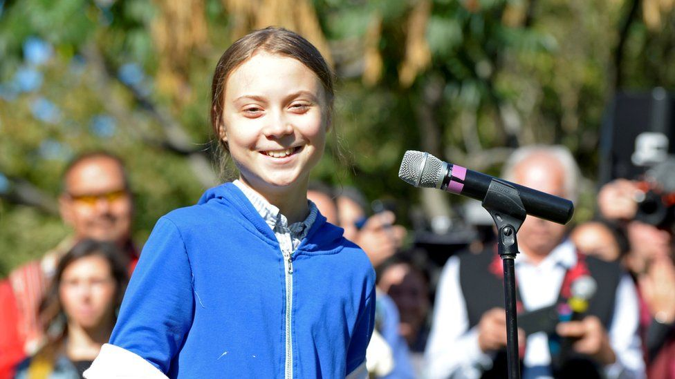 Climate activist Greta Thunberg in Montreal