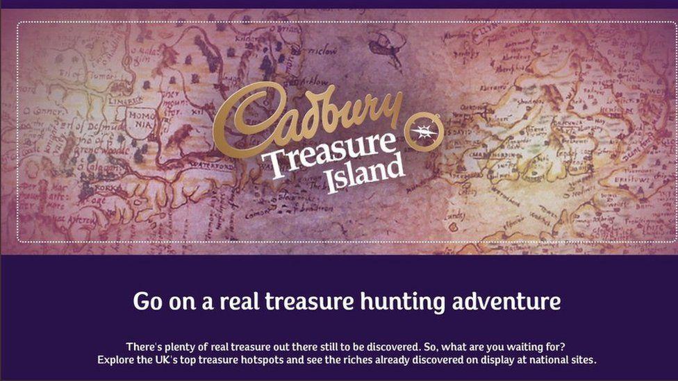 Cadbury Treasure Island map