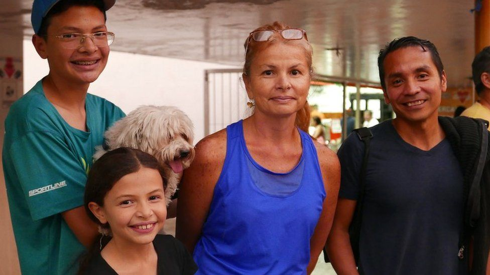 Liset Marin and her two children